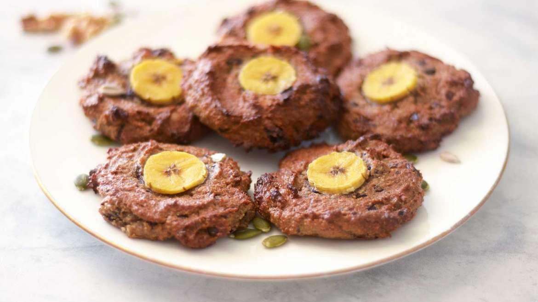 Zdravi bananini piškoti brez moke