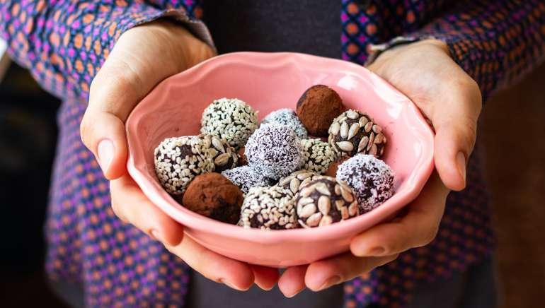 Arašidove čokoladne kroglice