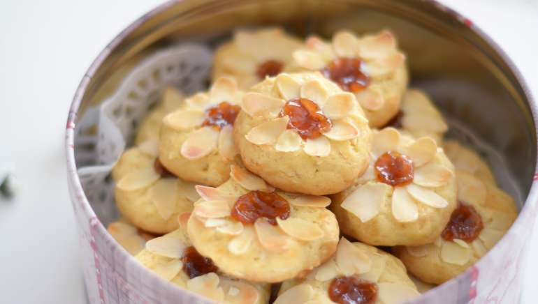 Piškoti mandljeve rožice