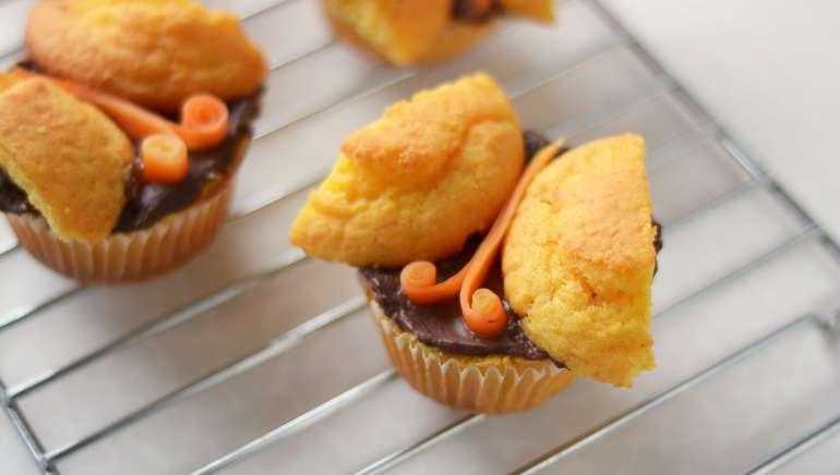 Korenčkovi muffini s čokolado