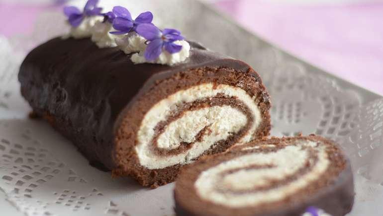 Čokoladna rolada brez moke