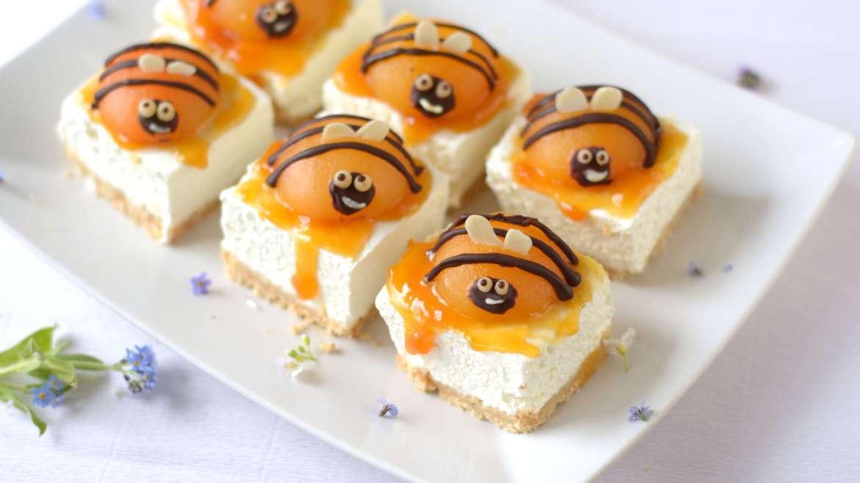 Enostavne cheesecake rezine brez peke